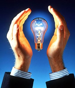 Protect your intellectual property.  Hands around a light bulb idea won't cut it.