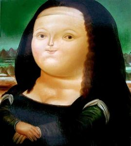 Not everybody likes Botero's Mona Lisa.
