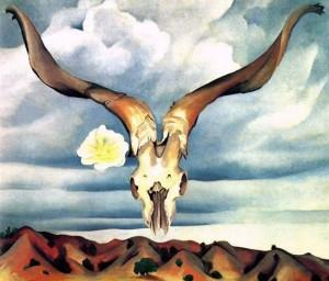 Georgia O'Keefe's Ram's Head