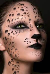 Hopefully leopard print makeup won't catch on.
